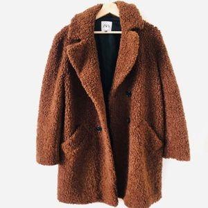NWT | Zara Fleece Teddy Coat